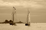 Suzanne Gaff - Tall Ships Sailing in sepia