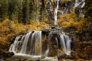 Waterfall Photography Posters - Tangle Falls Poster by Keith Kapple