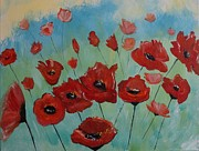 Tangerine Originals - Tango Poppies by Leslie Allen