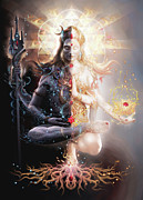 Psyche Metal Prints - Tantric Marriage Metal Print by George Atherton