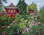 Area Paintings - Tea Garden by Lisa Reinhardt