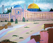 Dome Paintings - Temple Mount II by Adinah John
