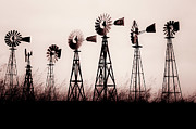 """tamyra Ayles"" Metal Prints - Texas Windmills Metal Print by Tamyra Ayles"