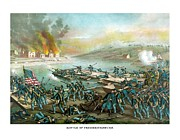 American History Mixed Media Prints - The Battle of Fredericksburg Print by War Is Hell Store