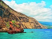 Napili Bay Framed Prints - The Bay at Kealakekua Framed Print by Dominic Piperata