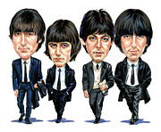 The Beatles George Harrison Paintings - The Beatles by Art