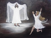 Prayer Shawl Paintings - The BrideGroom Calls by Patty  Thomas
