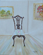 Antiques Paintings - The Chair by Judith Rhue