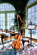 Musical Instrument Paintings - The Conservatory by Hanne Lore Koehler