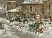 Eugene Chigot - The Garden under Snow