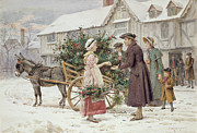 George Goodwin Kilburne - The Holly Cart