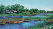 House Pastels - The House on Bowstring Channel by David Bratzel