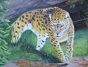 Leopard Hunting Prints - The Hunt Print by John Nickerson