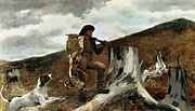 Winslow Homer - The Hunter and his Dogs