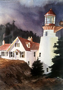 Maine Seacoast Paintings - The Keeper by Don F  Bradford