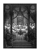 Jesus Mixed Media Metal Prints - The Last Supper Metal Print by War Is Hell Store