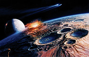 Astronomy Paintings - The Late Heavy Bombardment by Don Dixon