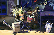 Watering The Plants Prints - The Light of Provence Print by Michael Jacques