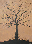 Twiggy Painting Metal Prints - the Lindsey Tree Metal Print by Julia Raddatz
