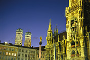 New Town Prints - The Marienplatz in Print by Taylor S. Kennedy