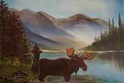 Cabin Wall Originals - The Mountain Moose by Leslie Allen