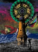 Digital Collage - The New Pharos by Eric Edelman