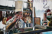 Moma Painting Originals - The Noodle Maker by Stephanie Come-ryker