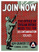 Patriotic Mixed Media - The Office Of Civilian Defense Needs You by War Is Hell Store