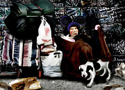 Homeless Painting Posters - The Oldest Living Mouskateer Poster by Jann Paxton