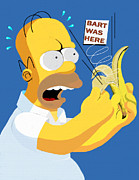 Simpsons Framed Prints - The Oldest Trick In The Book Framed Print by Saad Hasnain