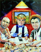 Caricature Artist Art - The Poker Game by Hanne Lore Koehler