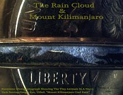 Modern Microscopic Art Reliefs - The Rain Cloud And Mount Kilimanjaro  by Phillip H George