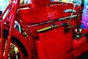 Wingsdomain Art and Photography - The Red Steam Flyer . Steam Powered...