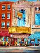 Horror Movies Paintings - The Rialto Theatre Montreal by Carole Spandau