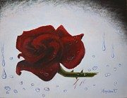Christian Artwork Painting Originals - The Scarring Rose by Angelina G T