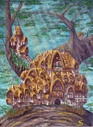 Lorn Tree Art - The Small Straddle House from Arboregal by Dumitru Sandru