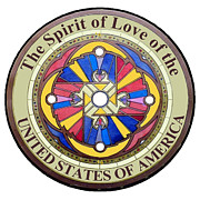 United States Government Painting Framed Prints - The Spirit of Love of the United States of America Framed Print by Ahonu