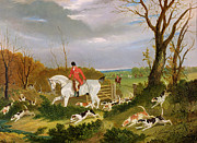 John Frederick Herring Snr - The Suffolk Hunt - Going to Cover near...