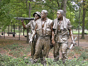 Vietnam Veterans Memorial Photos - The Three Servicemen by Guy Whiteley