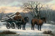 Anonymous - The Timber Wagon in Winter