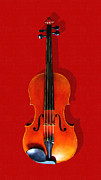Wingsdomain Art and Photography - The Violin . Red Version . Painterly