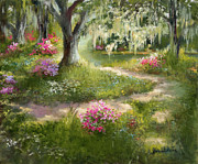Great Painting Originals - The Winding Path in Spring by Jane Woodward