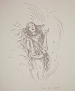 Spiritual Energy Art Drawings - The Word by Bruce Zboray