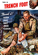 Second World War Prints - This Is Trench Foot Print by War Is Hell Store