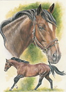Thoroughbred Fine Art Print by Barbara Keith