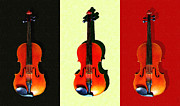 Wingsdomain Art and Photography - Three Violins . Painterly