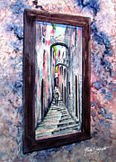 Perspective Paintings - Thru the Looking Glass by Ruth Bodycott