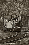 Steve Harrington - Thurmond WV Train sepia