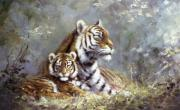 Silvia  Duran - Tigress and cub