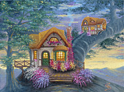 Lorn Tree Art - Tigs Cottage from Arboregal by Dumitru Sandru